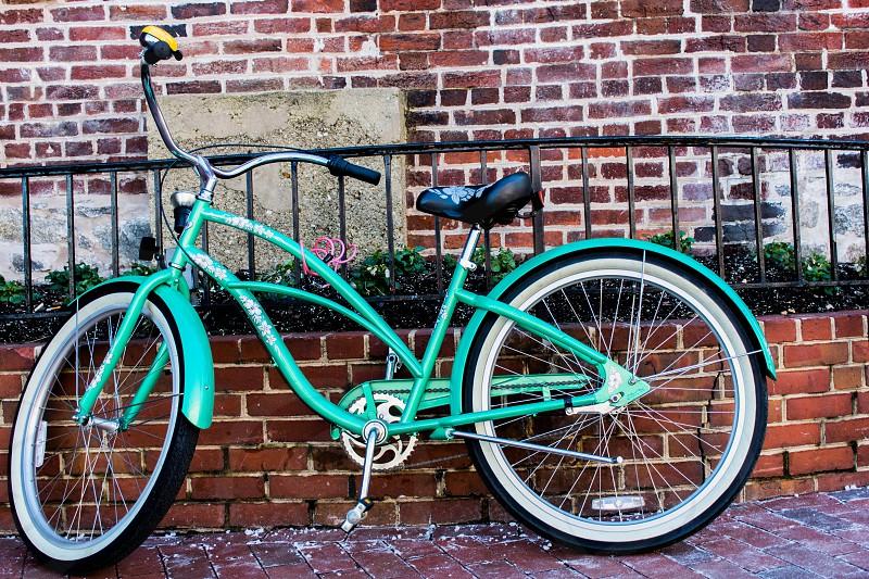 Bicycle Teal Brick photo