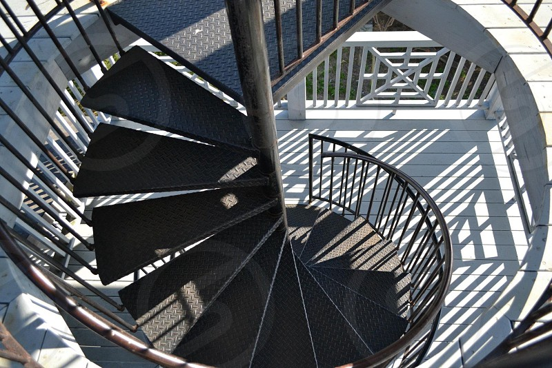 view of black staircase photo
