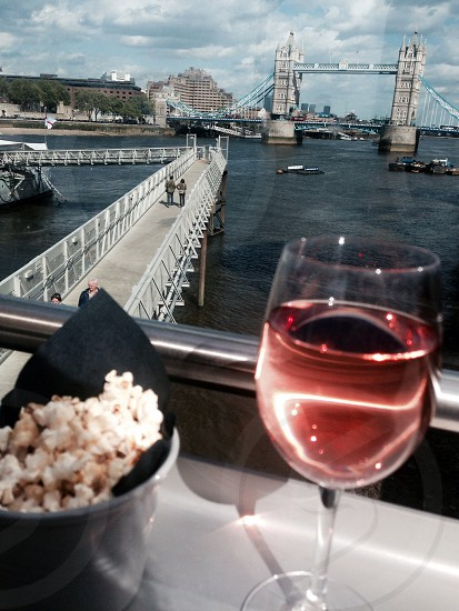 Afternoon glass of wine with such a view! photo