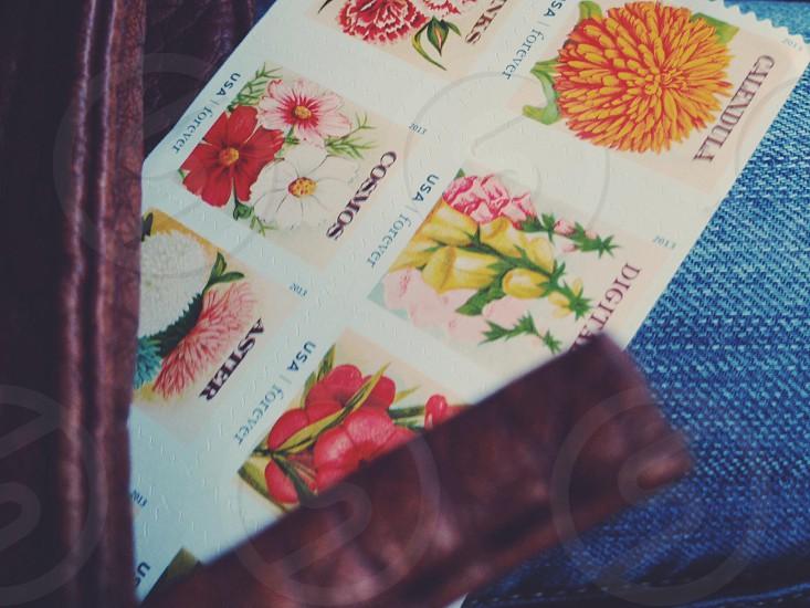 flower print stamp  photo