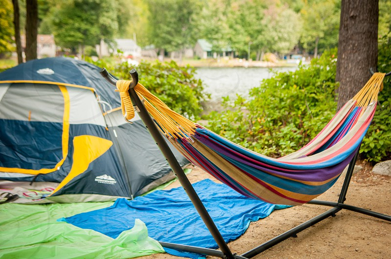 Camping lake relaxing traveling peace  photo