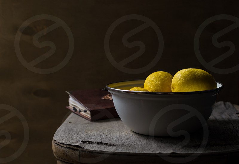 Still life with lemons photo