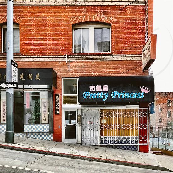 City street San Francisco Chinatown brick facade  photo