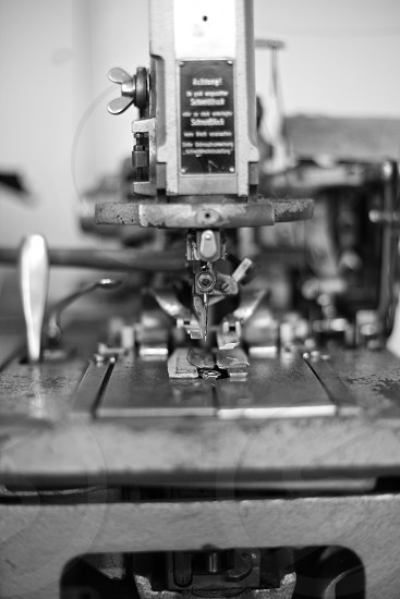 vintage sewing equipment photo