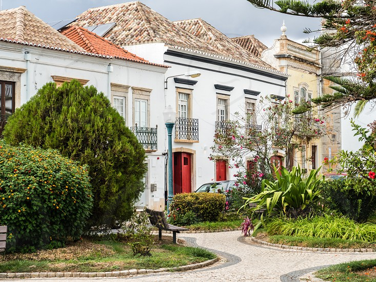 View of the streets of the medieval Portuguese city of Tavira photo