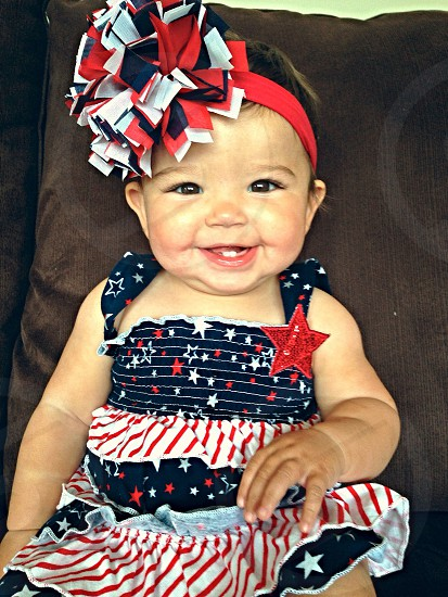 Baby's first Fourth of July.  photo
