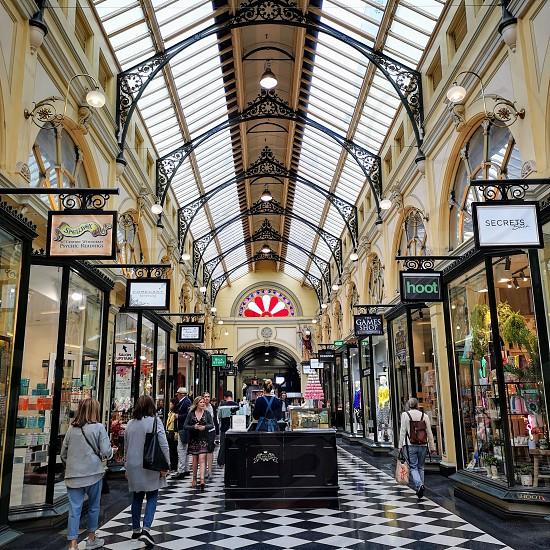 Melbourne city shopping shopping precinct photo