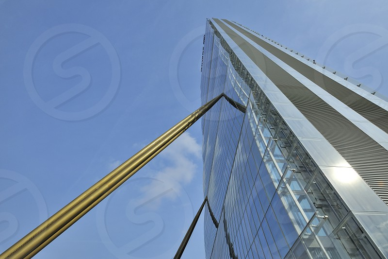 New skyscraper in Citylife district Milano Italy photo