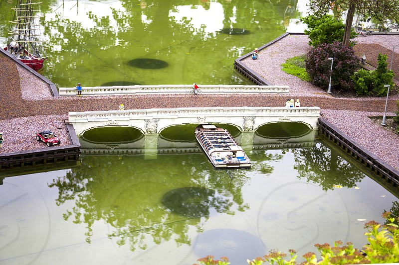 Models and projects realistically built from a Lego building kit  in Legoland Park in Denmark. photo