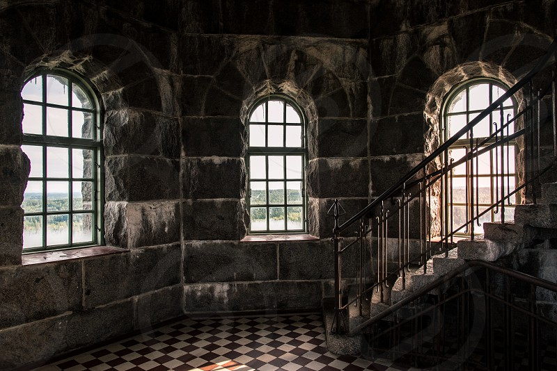 The Aulanko observation tower from the inside. Hämeenlinna 2016.   https://fi.wikipedia.org/wiki/Aulangon_n%C3%A4k%C3%B6torni photo