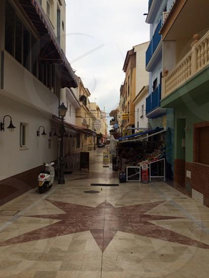 Empty spanish market street photo