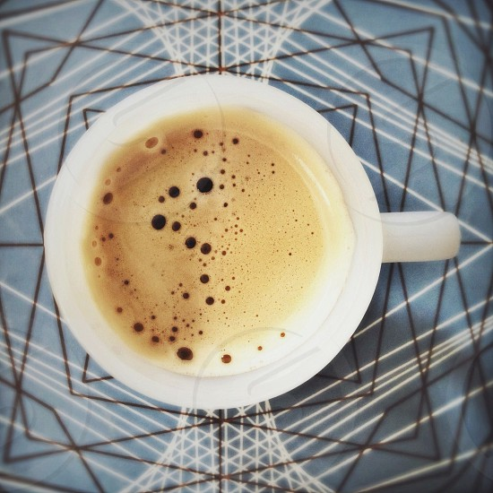 coffee in white ceramic mug photo