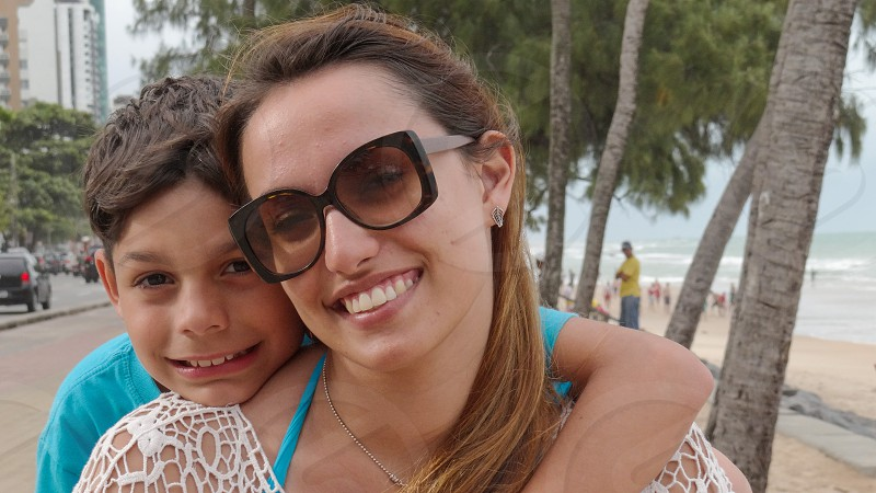 Aunt and nephew in Recife PE Brazil. photo