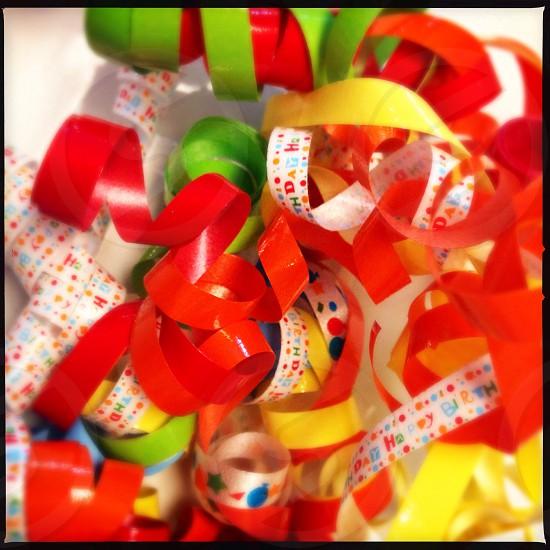 Christmas ribbons - close up photo