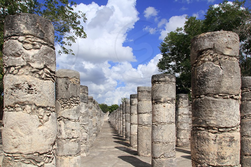 Mayan Chichen Itza Mexico thousand columns temple in Yucatan photo