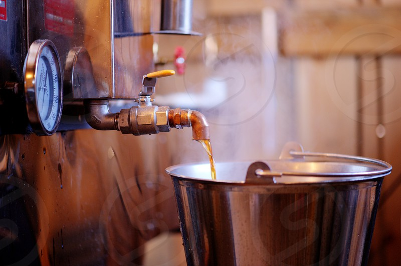 The process of making Pure Maple Syrup. Taken in Upstate NY near the Vermont border. photo