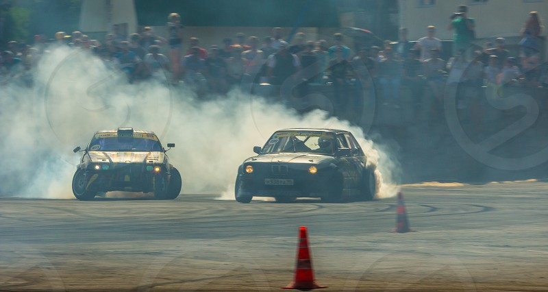 Cars drift event power clouds championship  photo