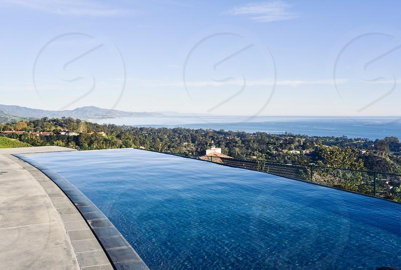 pool view santa barbara california estate photo