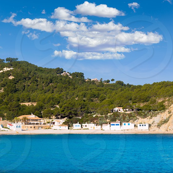 Javea Xabia Playa la Barraca Cala Portichol in Alicante at Mediterranean Spain photo