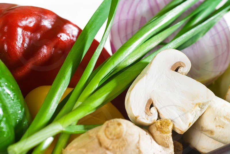 assorted fresh vegetables base for a healty diet and nutruition photo