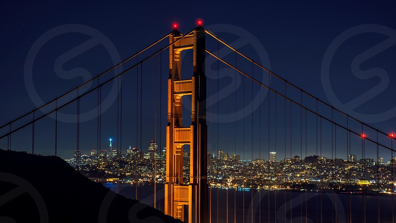 Golden Gate by night photo