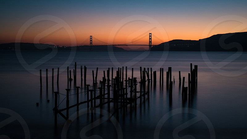 The Golden Gate Bridge from across the Bay photo