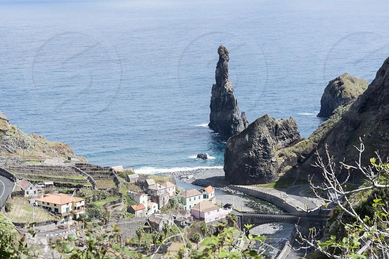 the north coastlime of Mdeira near Porto Moniz photo