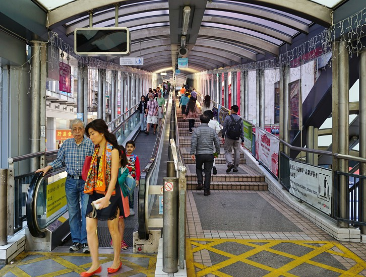 Central–Mid-Levels escalator and walkway system - Hong Kong photo