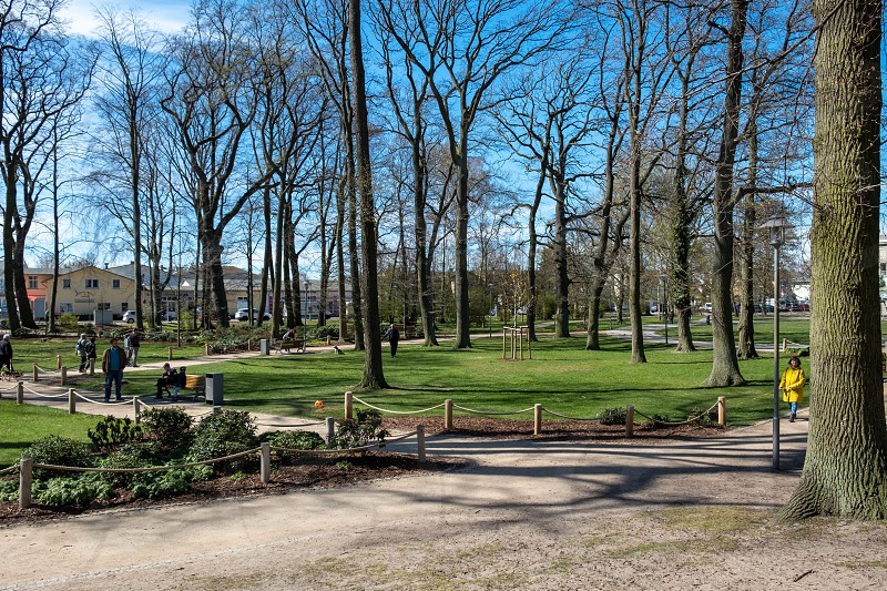 The beautiful park of Zinnowitz on the island Usedom in the Baltic Sea photo