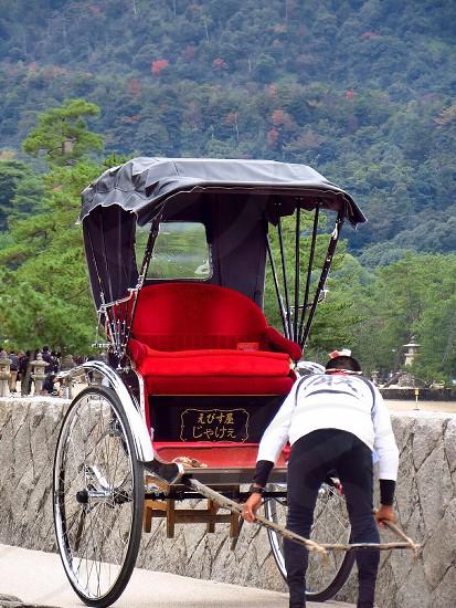 Pulled rickshaw photo