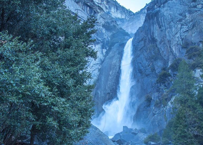 Lower Yosemite Falls in Yosemite National Park CA photo