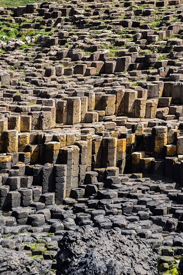 Northern Ireland UK Giants Causeway rocks archaeology  photo