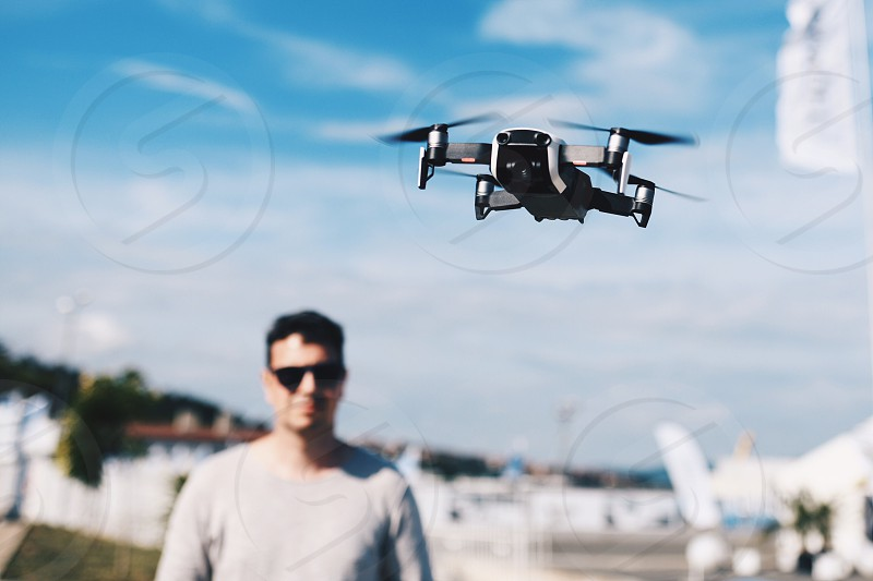 drone flight helicopter copter fly sky technology photography video photo
