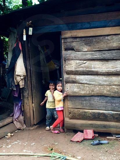 Vietnam DaLat Minority Village children real people lifestyle. photo