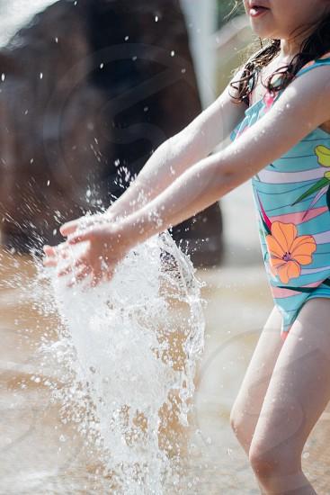 Summer splash water fun pool park  photo