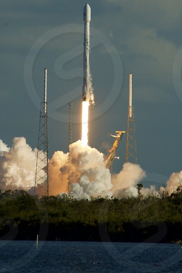 Space X Falcon 9 Rocket launch seen from LC 39 gantry. photo