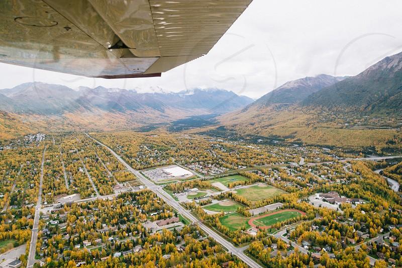 Cesna 180 flight over Anchorage AK photo