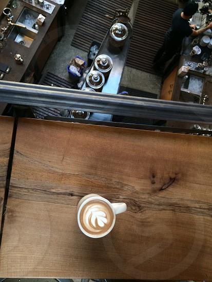 heart designed cappuccino photo