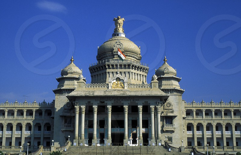the Palament in the city of Bangalore the province of Karnataka in India. photo
