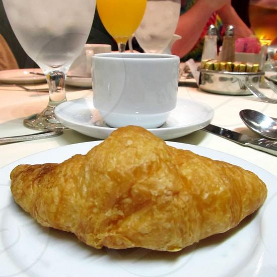 Breakfast croissant photo