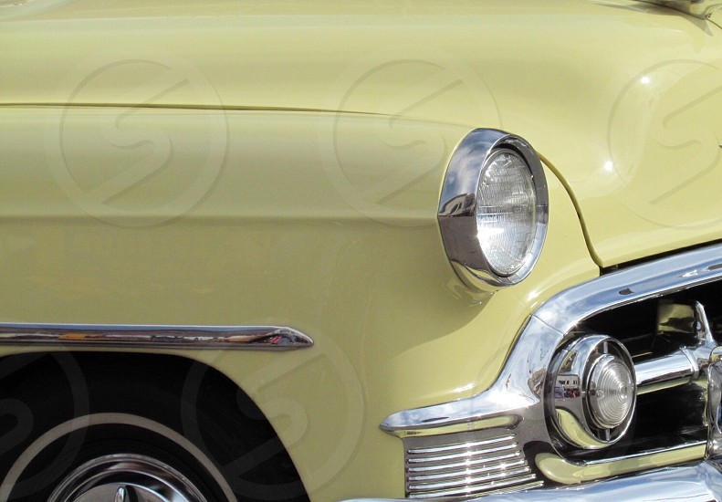 Close up of classic vintage car photo