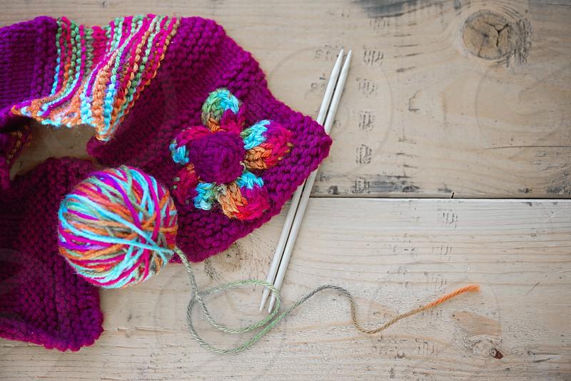 Knitting photo