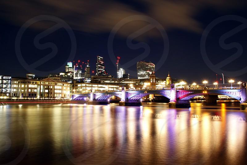 Southwark Bridge London England. photo