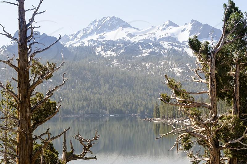 Mountain Lake Alpine Lake Landscape Snow Reflection  photo