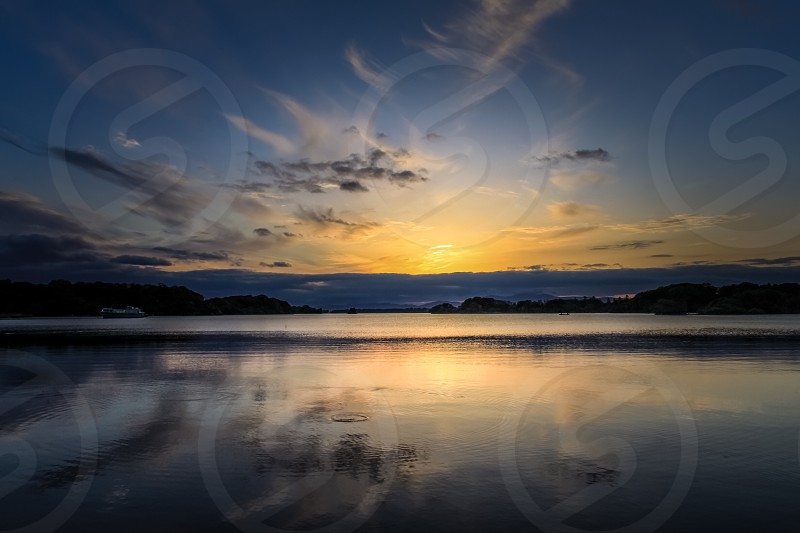 view of sunset over horizon photo