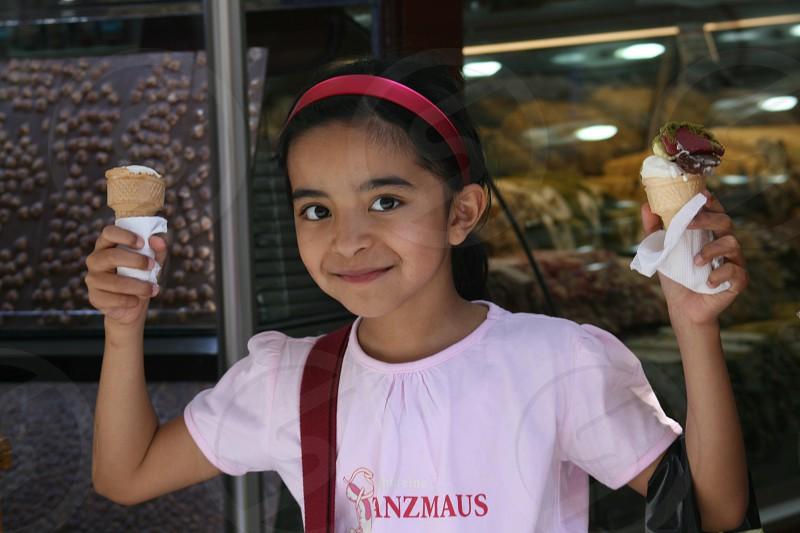 I got two cones of Ice Cream! Happy Pretty Faces  photo