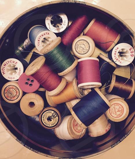 Vintage sewing accessorries photo