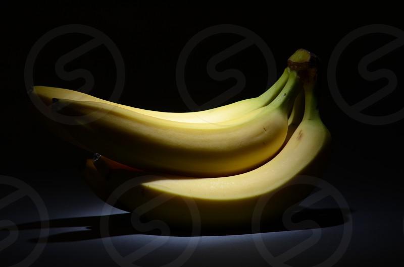 Bananas yellow fruit healthy snack breakfast food photo