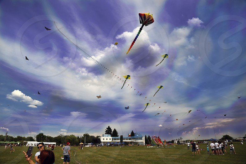 Big skies tiny people at Kites Festival. photo