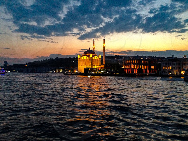 Ortaköy from Bosphorus photo